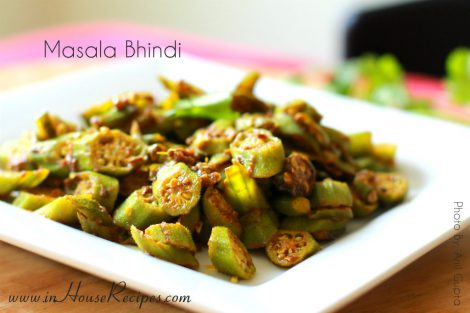 Masala Bhindi – no Onion no Garlic